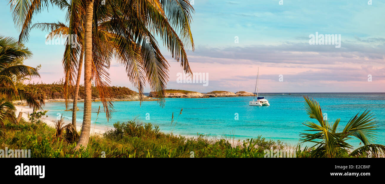 Bahamas, Eleuthera Island, Lighthouse Bay - Stock Image