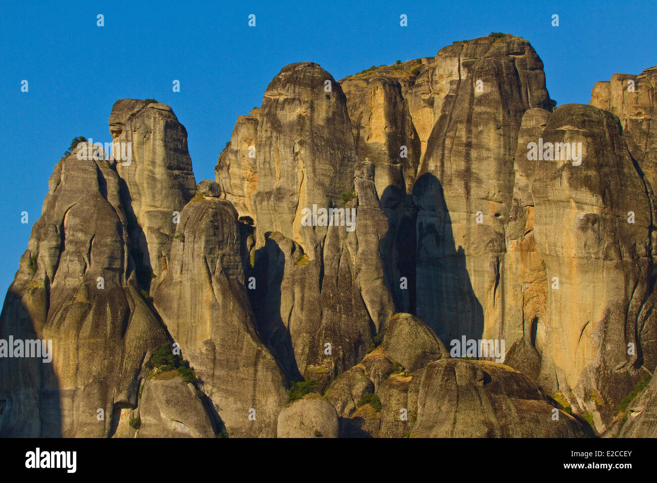 Greece, Thessaly, Meteora monasteries complex, listed as World Heritage by UNESCO, Meteora - Stock Image