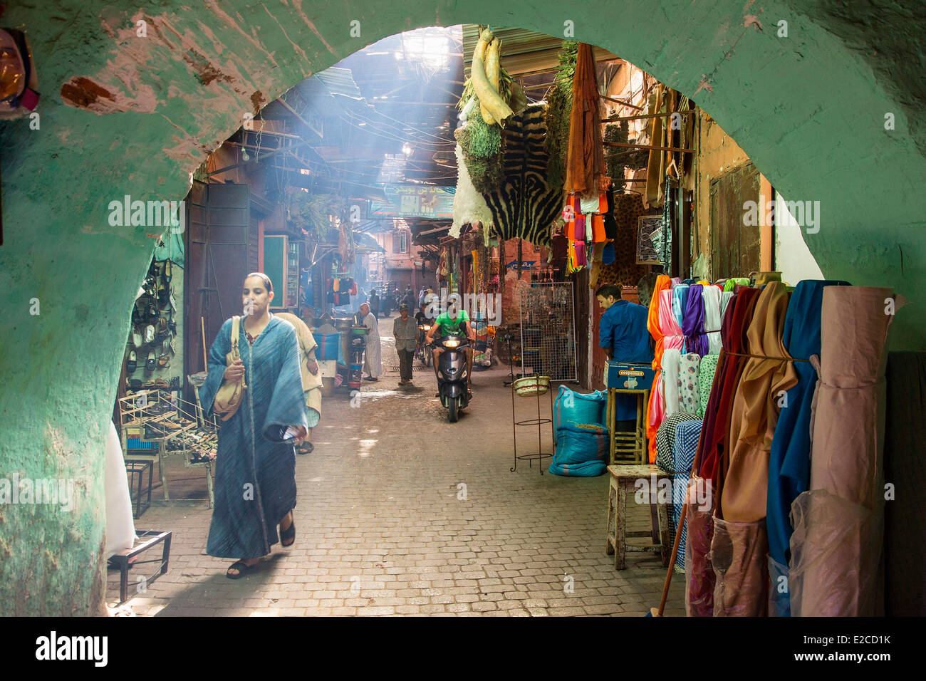 Morocco, High Atlas, Marrakesh, Imperial City, medina listed as World Heritage by UNESCO, souks Stock Photo