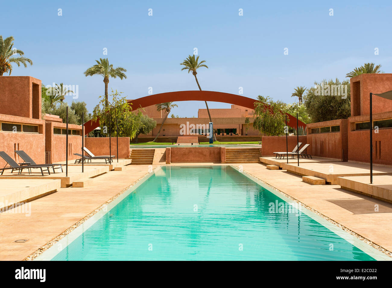 Morocco, High Atlas, Marrakesh, Imperial city, Dar Sabra Hotel to Franτois Chaputo Stock Photo