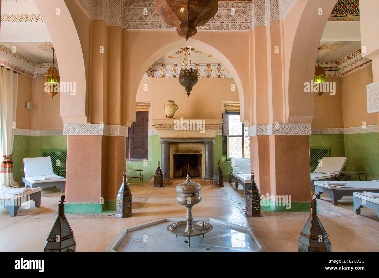 Morocco, High Atlas, Marrakesh, Imperial City, the Beldi Country Club, The Spa Stock Photo