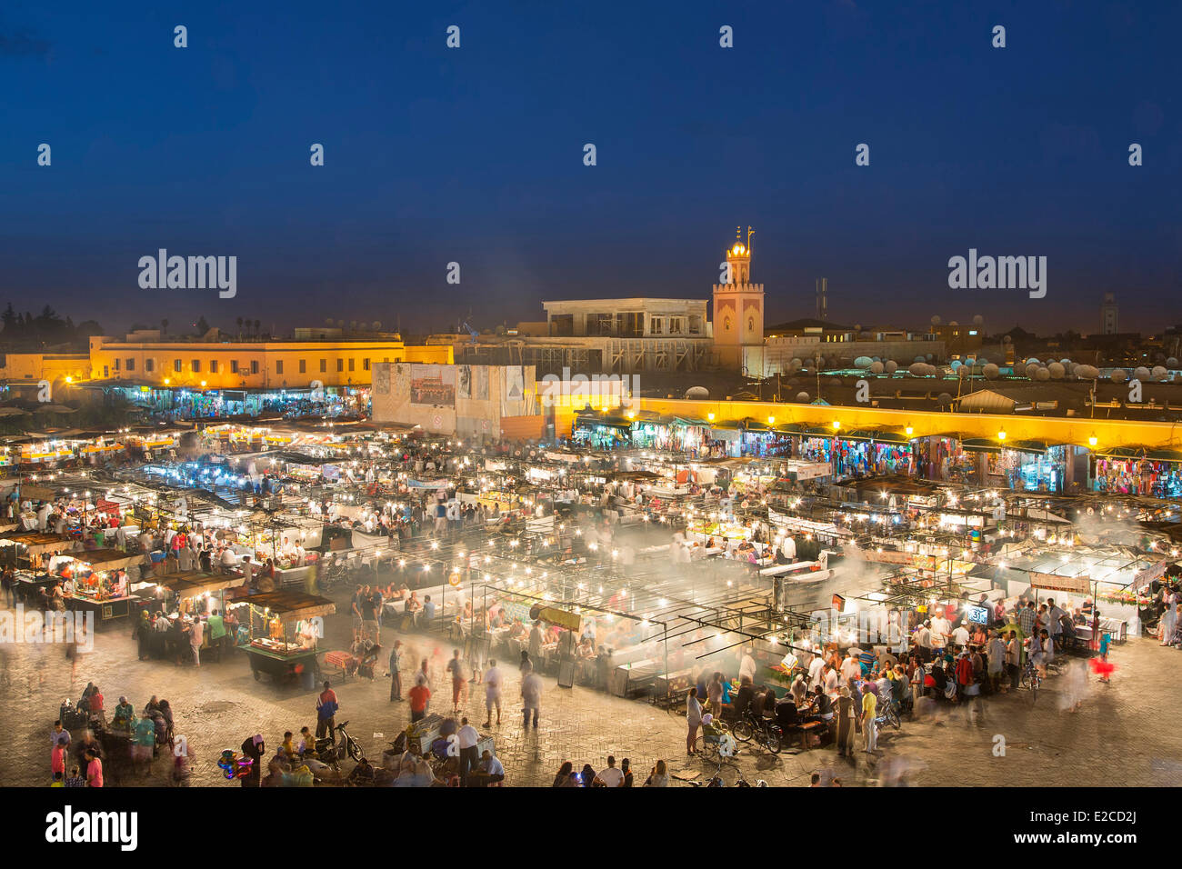 Morocco, High Atlas, Marrakesh, Imperial City, medina listed as World Heritage by UNESCO, Djemaa El Fna square Stock Photo