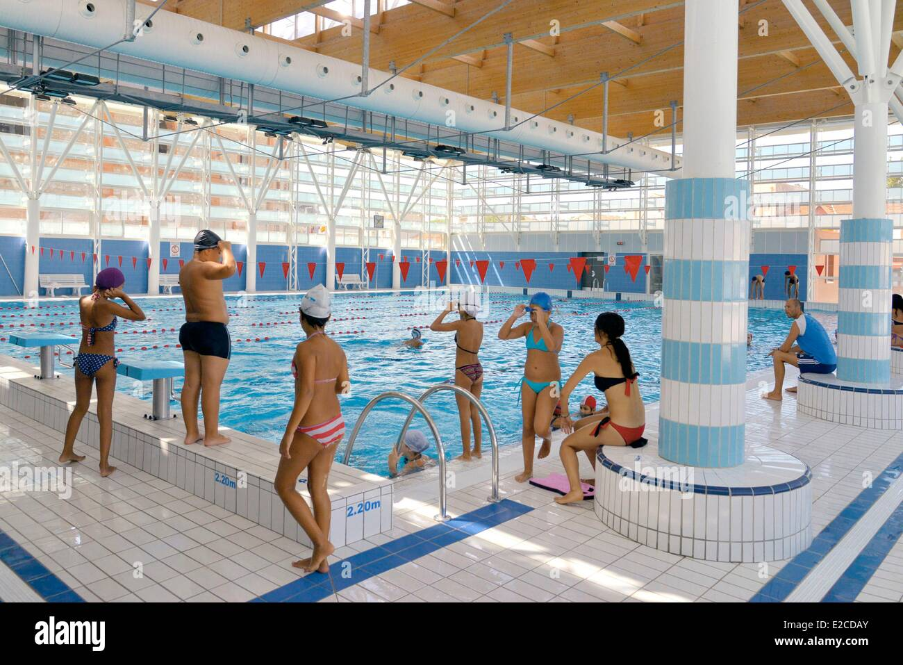 Large Swimming Pool Indoors Stock Photos Large Swimming Pool