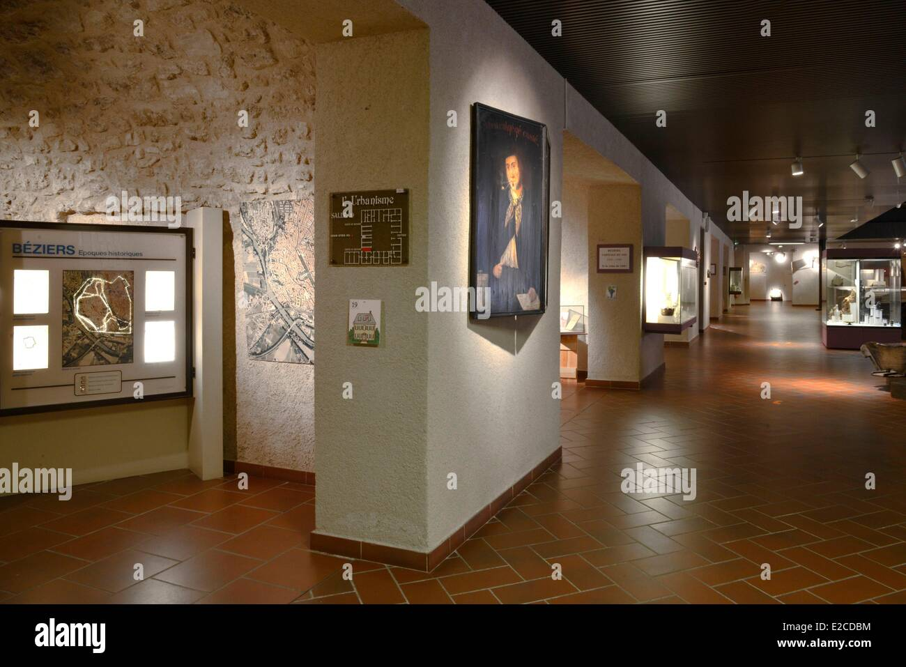 France, Herault, Beziers, Museum of Biterrois, room dedicated to the town planning - Stock Image