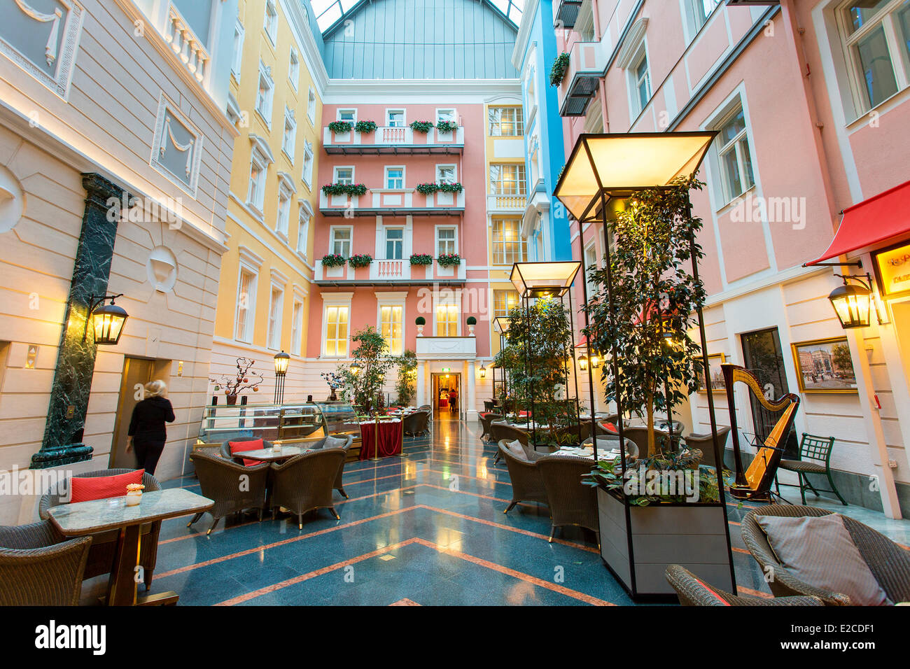 Russia, Saint Petersburg, listed as World Heritage by UNESCO, Grand Hotel Europe - Stock Image