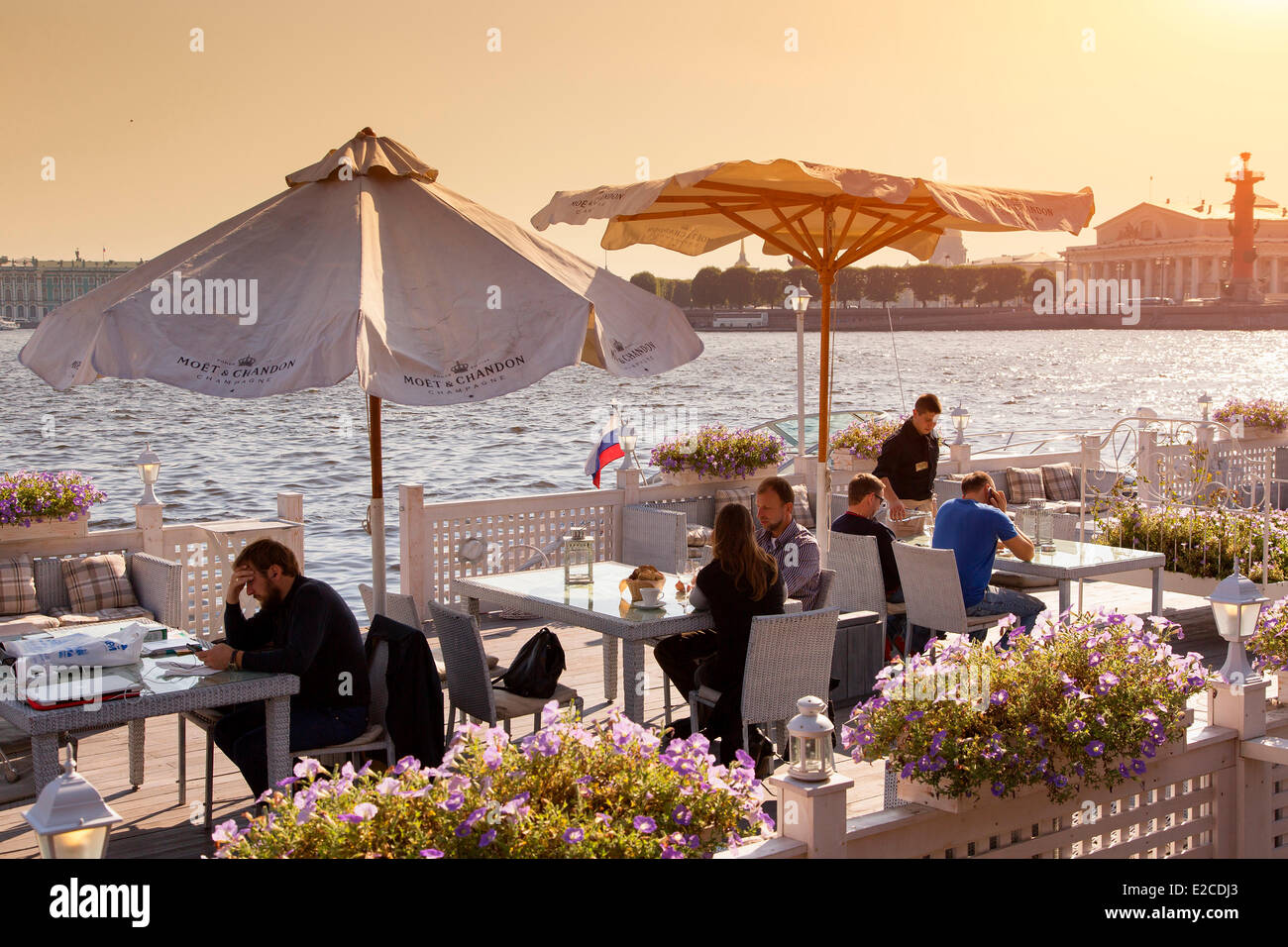 Russia, Saint Petersburg, listed as World Heritage by UNESCO, the Flying Dutchman restaurant - Stock Image