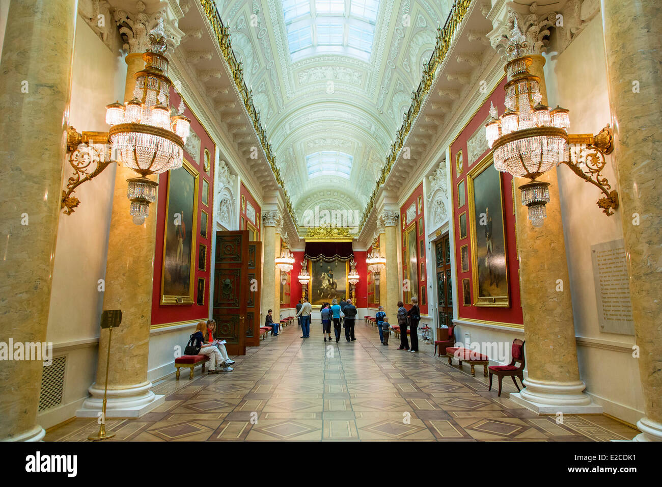 Russia, Saint Petersburg, listed as World Heritage by UNESCO, winter palace - Stock Image