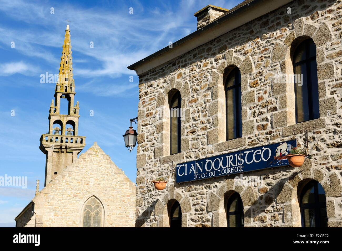 France, Finistere, Pagan country, the Legends Coast, Kerlouan, the chapel Sainte Anne - Stock Image