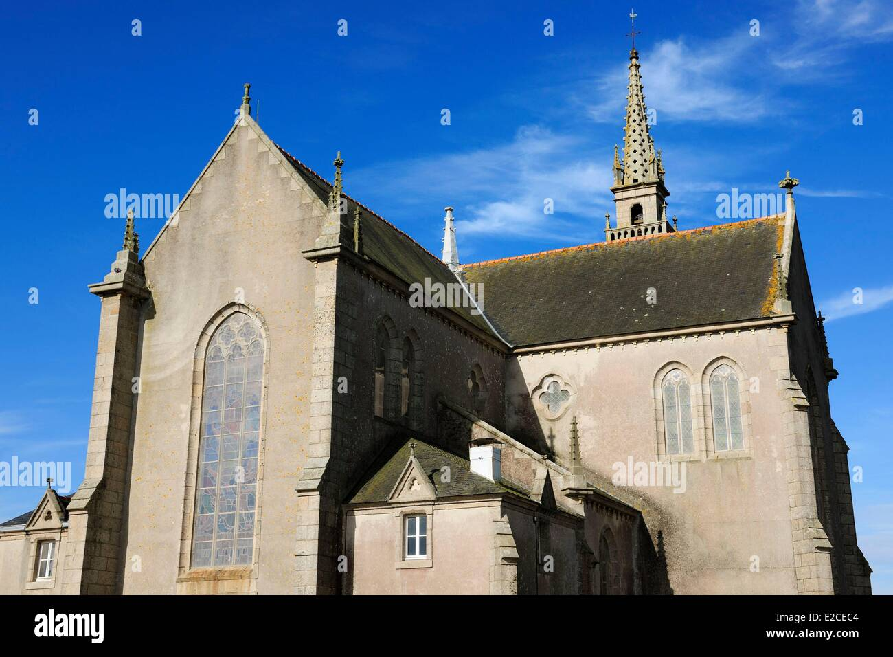 France, Finistere, Pagan country, the Legends Coast, Kerlouan, St Brevalaire church - Stock Image