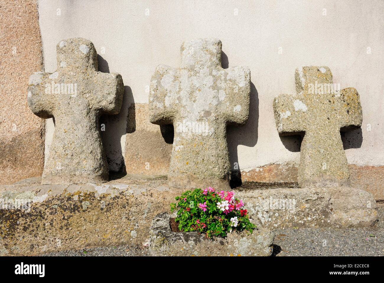 France, Finistere, Pagan country, the Legends Coast, Kerlouan, the Croazou chapel - Stock Image