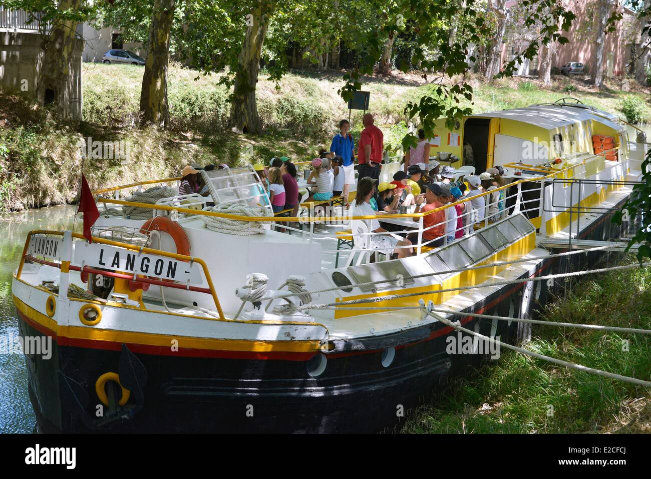 Canal Du Midi Barge Stock Photos & Canal Du Midi Barge Stock
