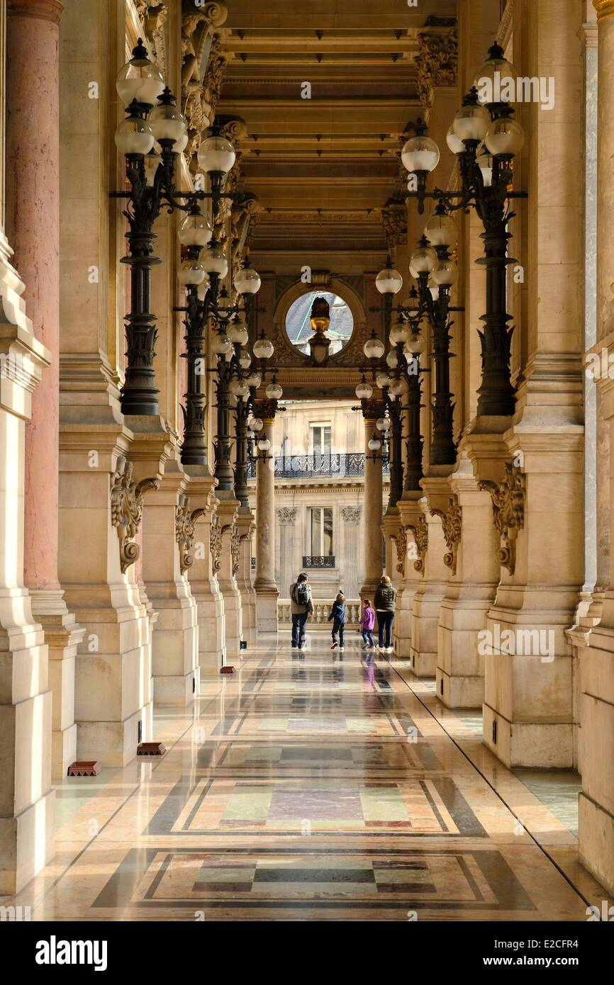France, Paris, Garnier Opera, the terrace of the South Facade - Stock Image
