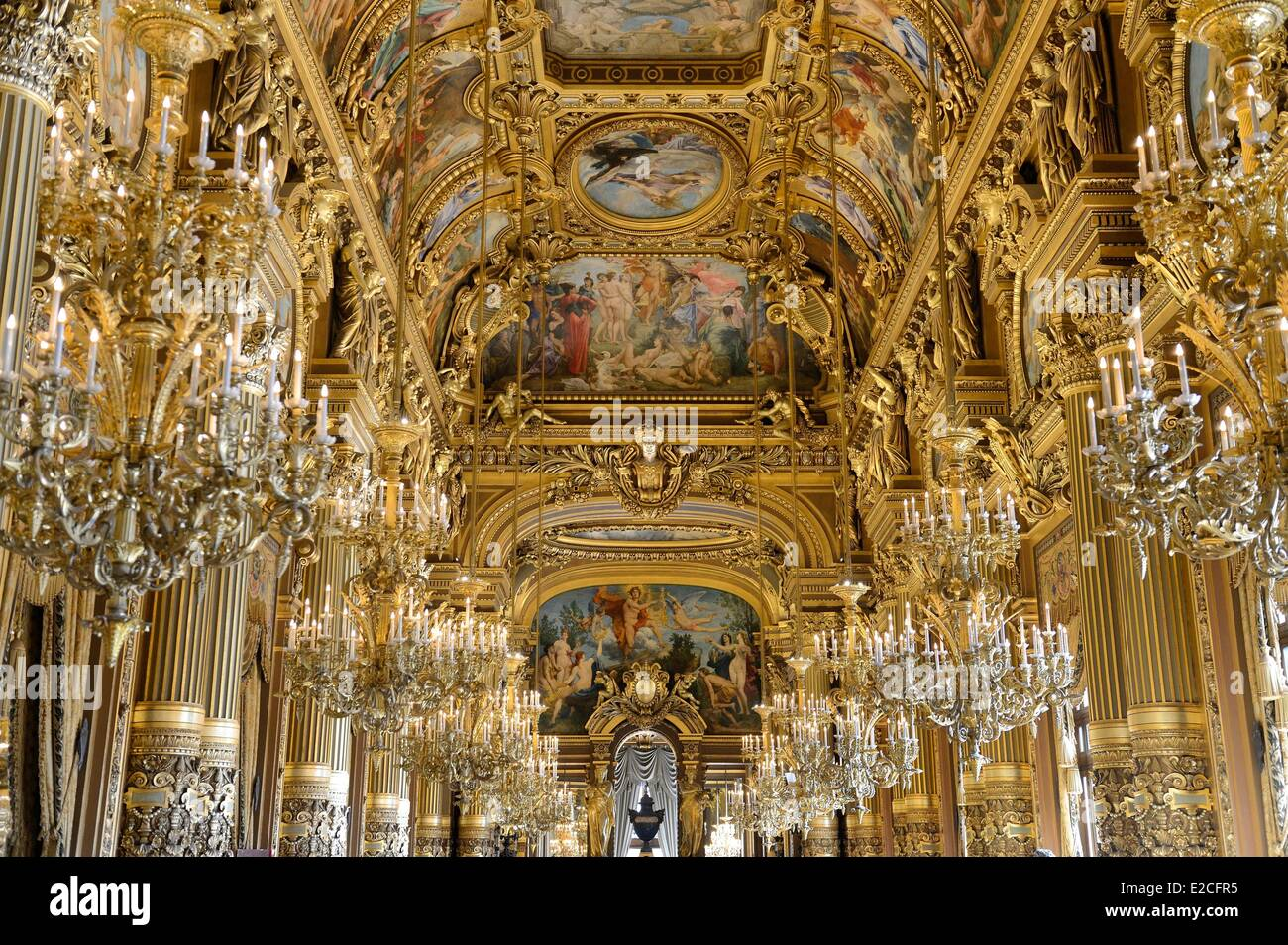 France, Paris, Garnier Opera, the Grand Foyer - Stock Image