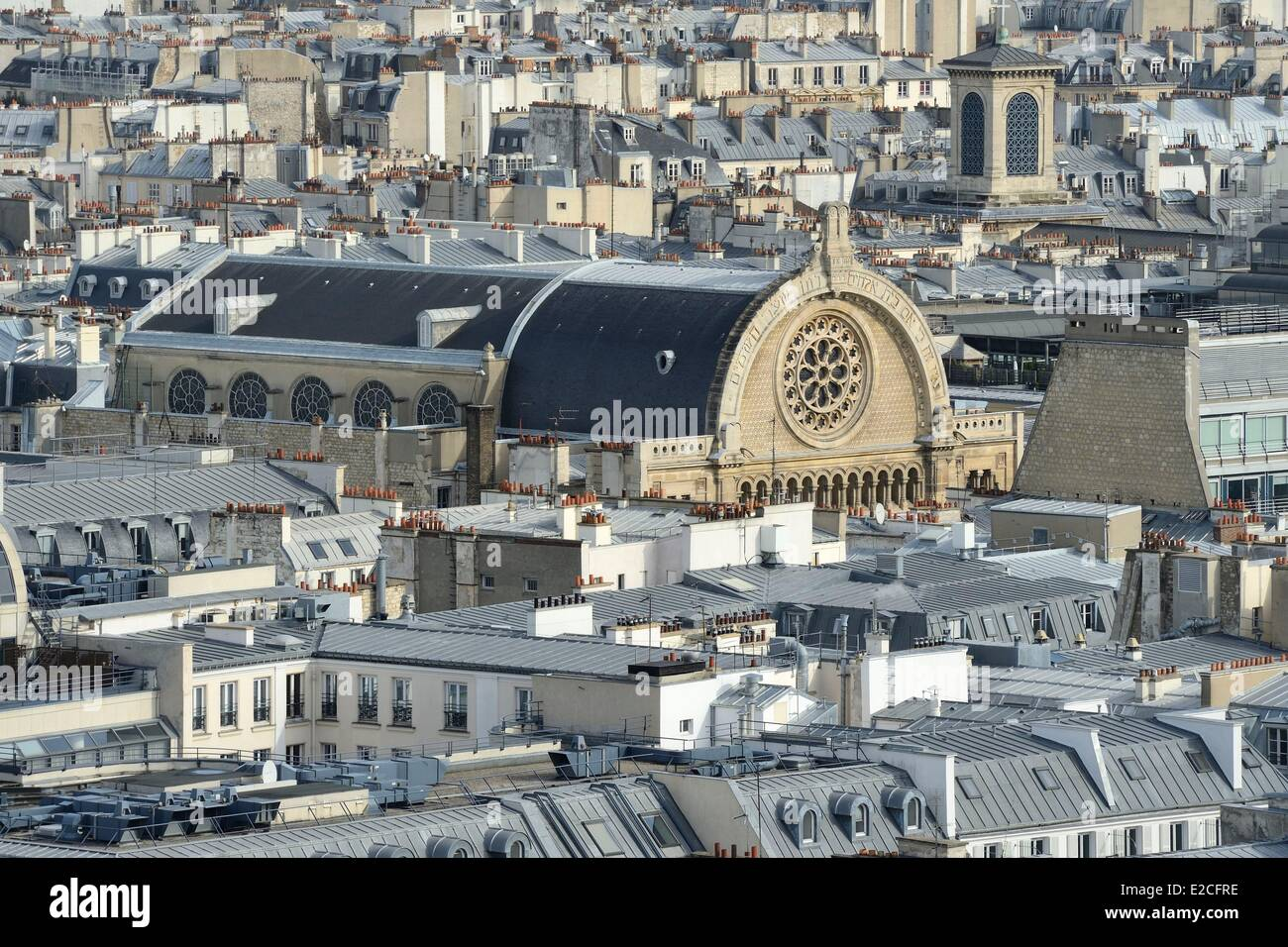 France, Paris, rue de la Victoire, Grand Synagogue of Paris - Stock Image