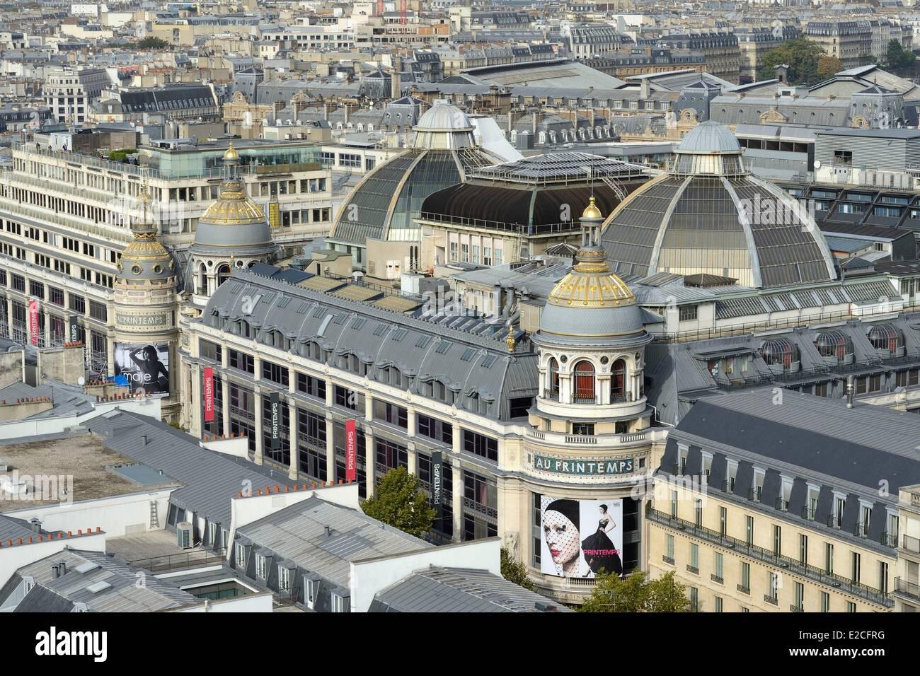 France, Paris, the department store Le Printemps - Stock Image