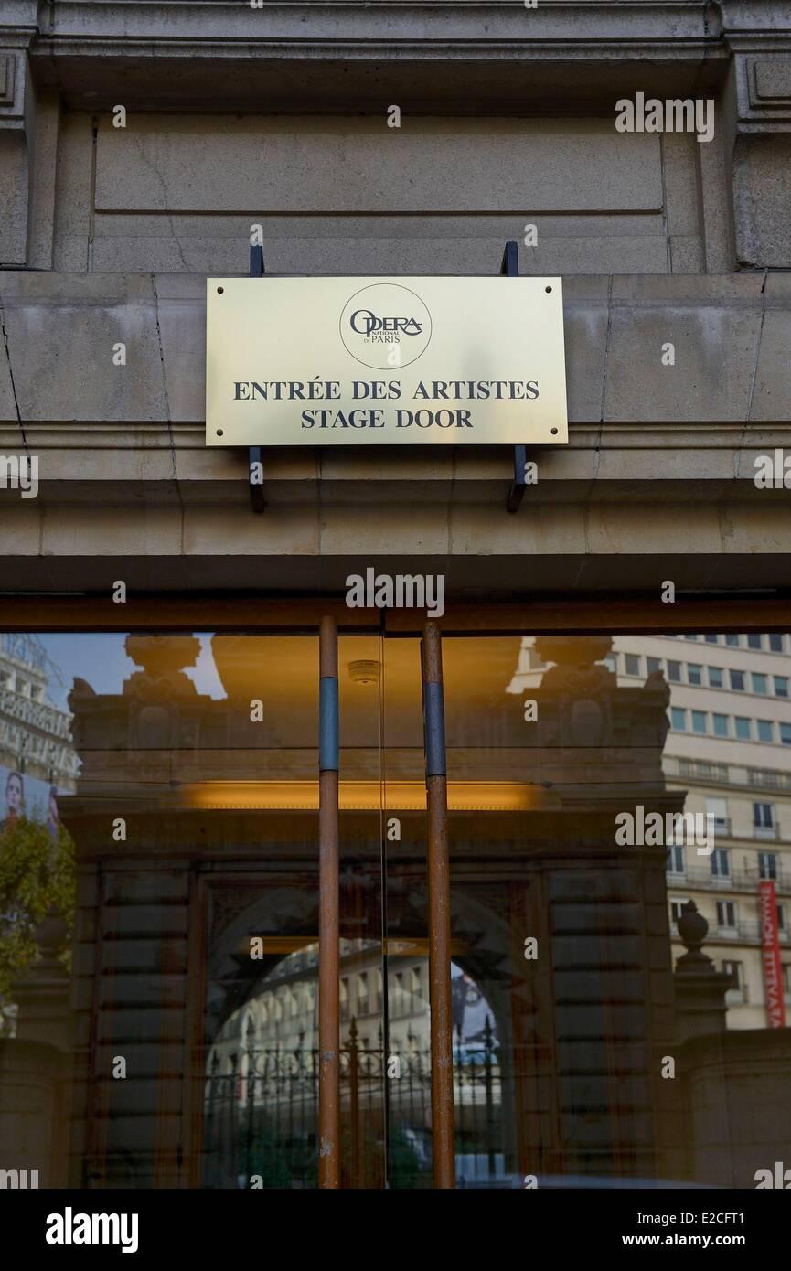 France, Paris, Garnier Opera, stage door - Stock Image