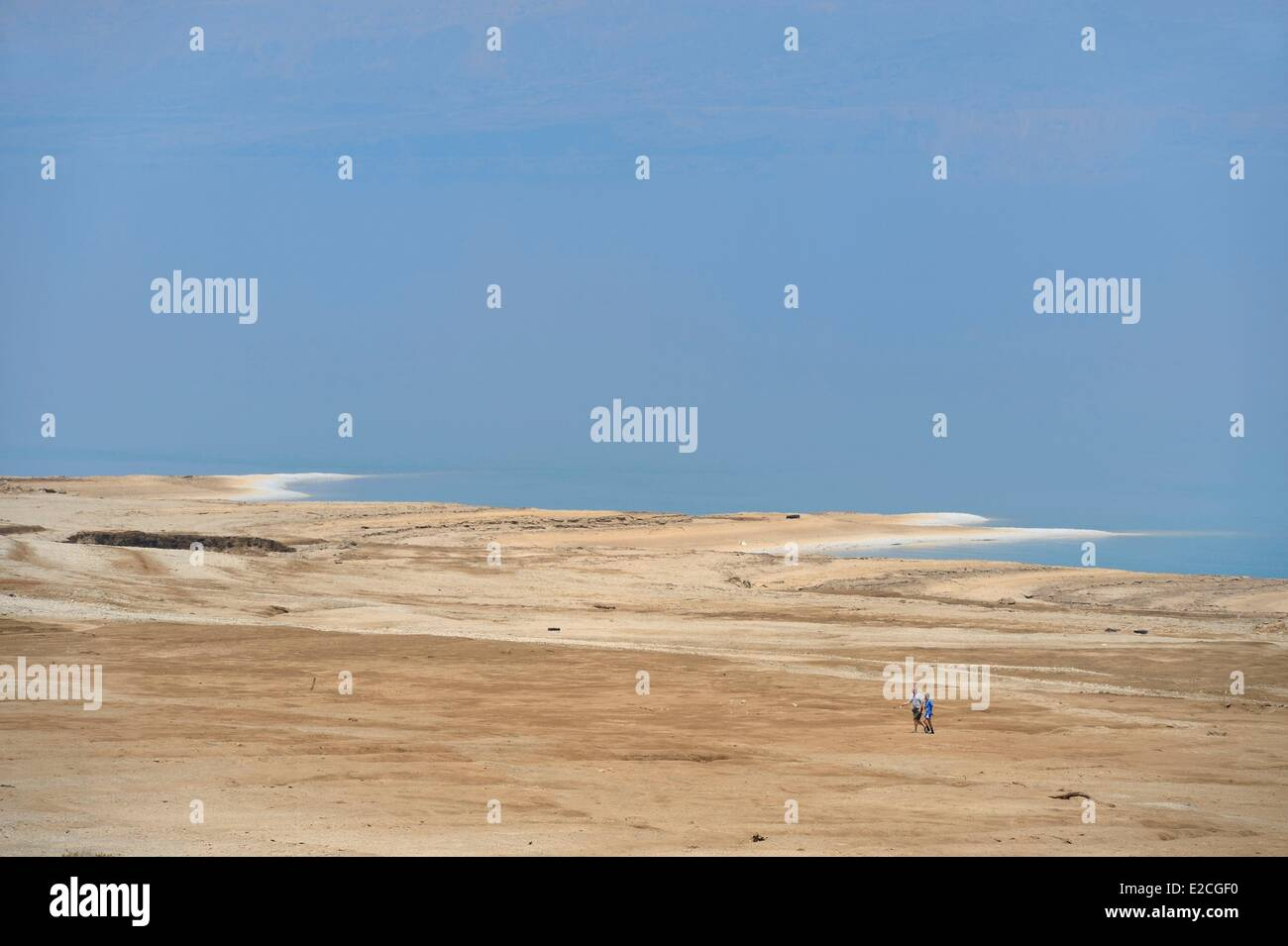 Israel, Southern district, Ein Gedi Beach on the Dead Sea - Stock Image