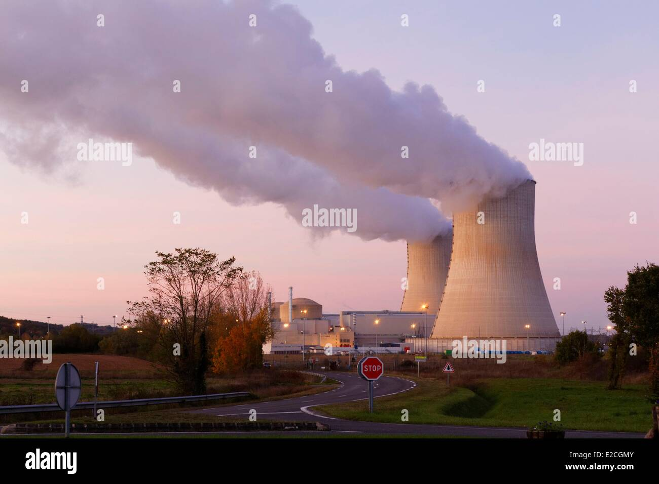 France, Vienne, Civaux, nuclear power station - Stock Image