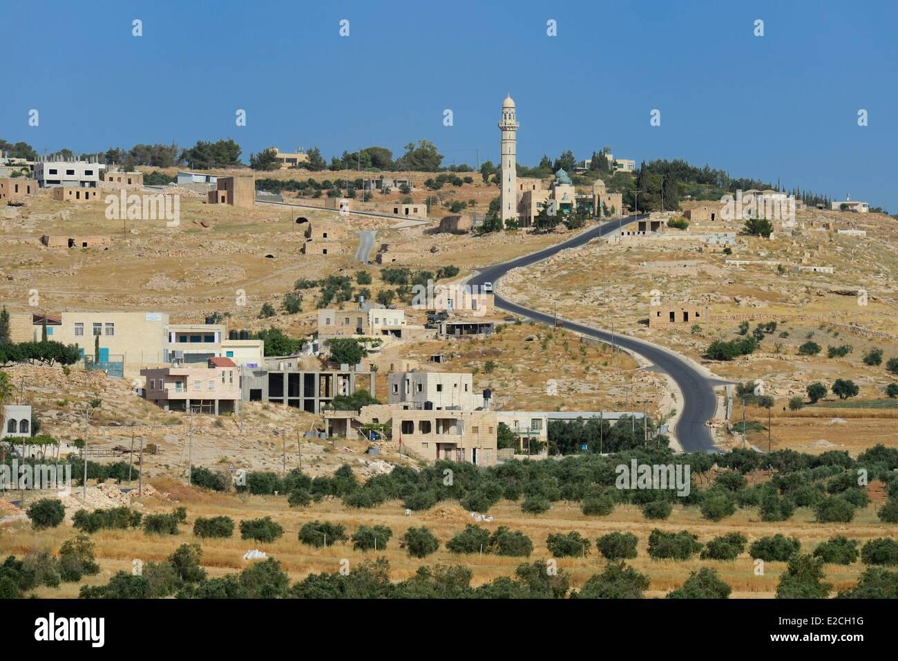 Palestine, West Bank (disputed territory), Bethlehem region, Bayt Ta'mar village - Stock Image