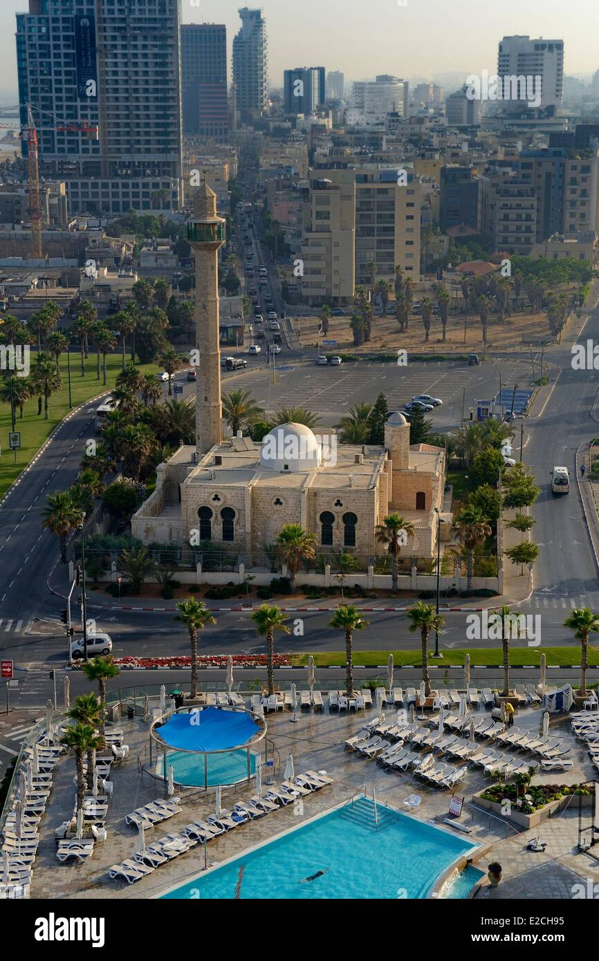 Israel, Tel Aviv, Jaffa district, the Hassan Bek Mosque on the sea front - Stock Image