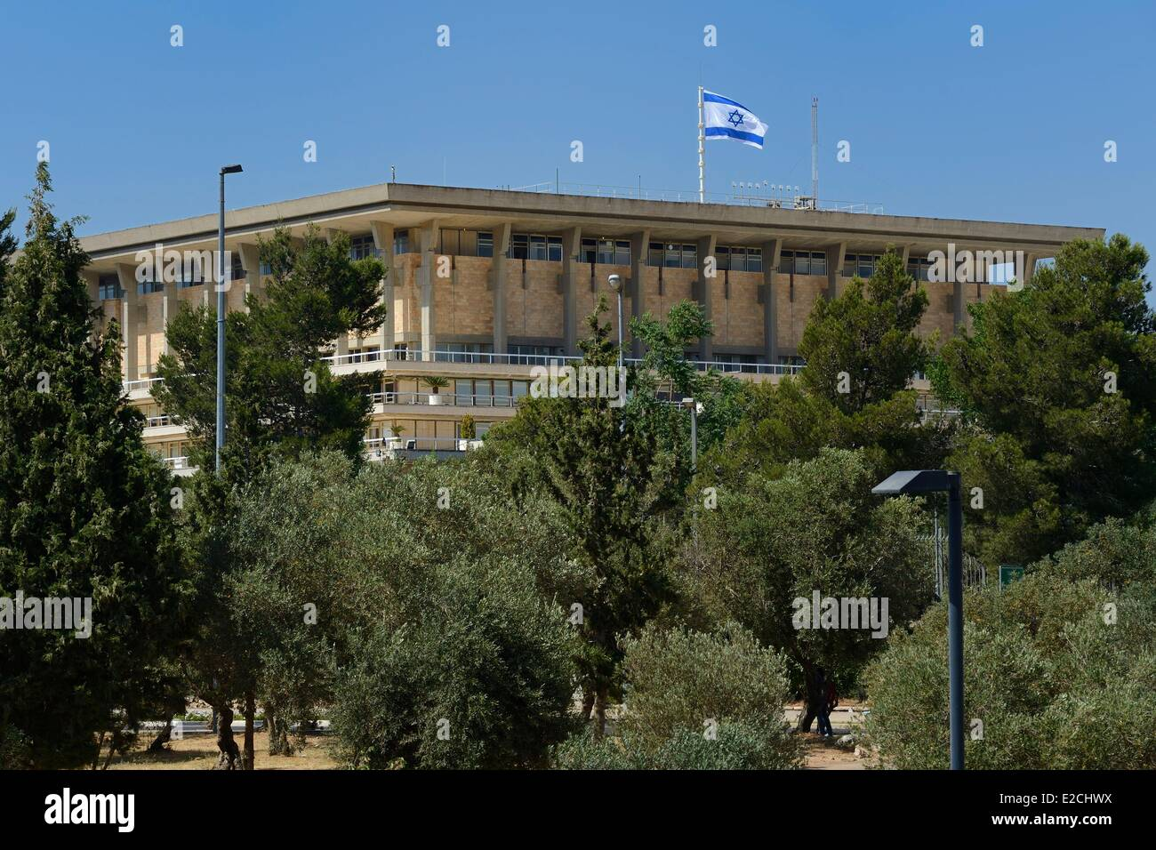 Israel, Jerusalem, the Knesset is the legislature of Israel, located in Givat Ram Stock Photo