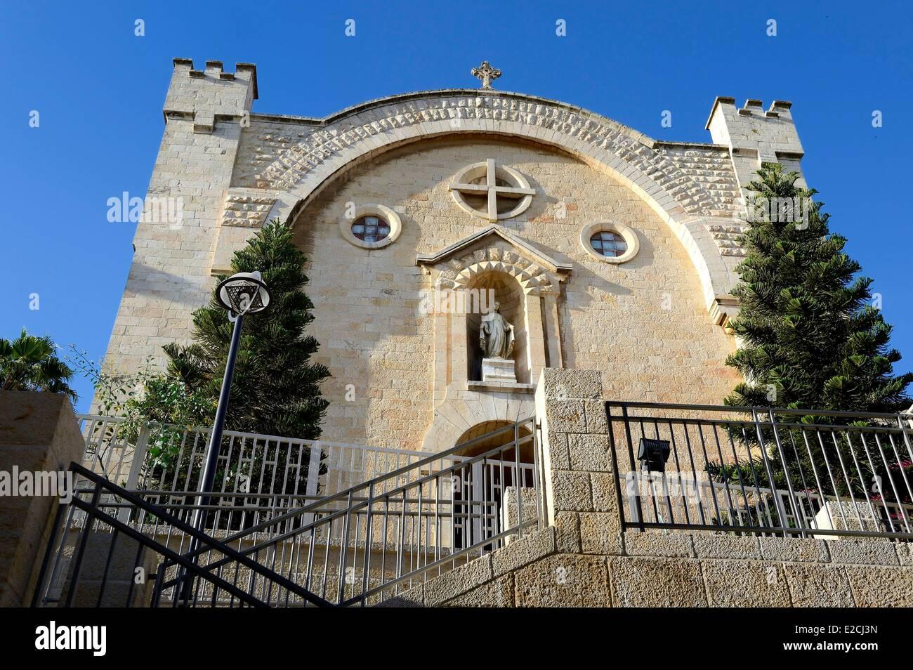 Israel, Jerusalem, Saint Vincent De Paul Church in Mamilla street - Stock Image