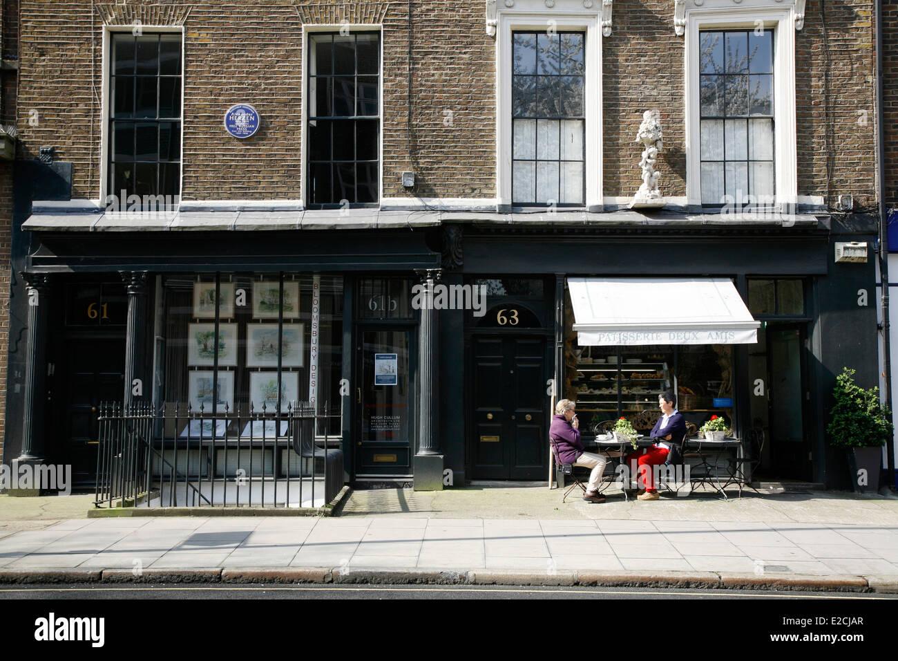 Patisserie Deux Amis on Judd Street, St Pancras, London, UK - Stock Image