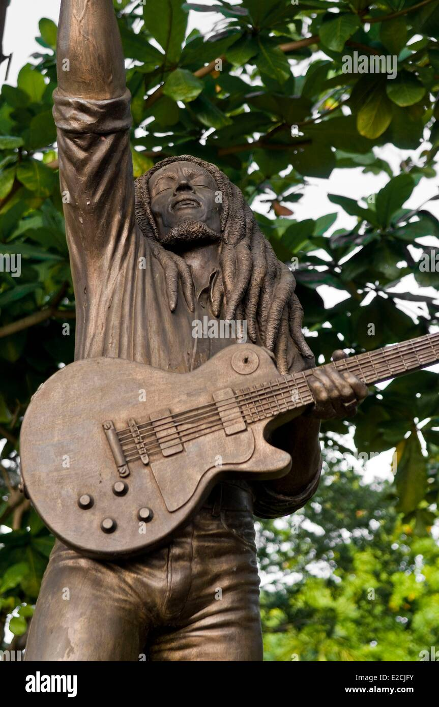 Jamaica, West Indies, Kingston, the house of Bob Marley became fondation, museum and music studio recording - Stock Image