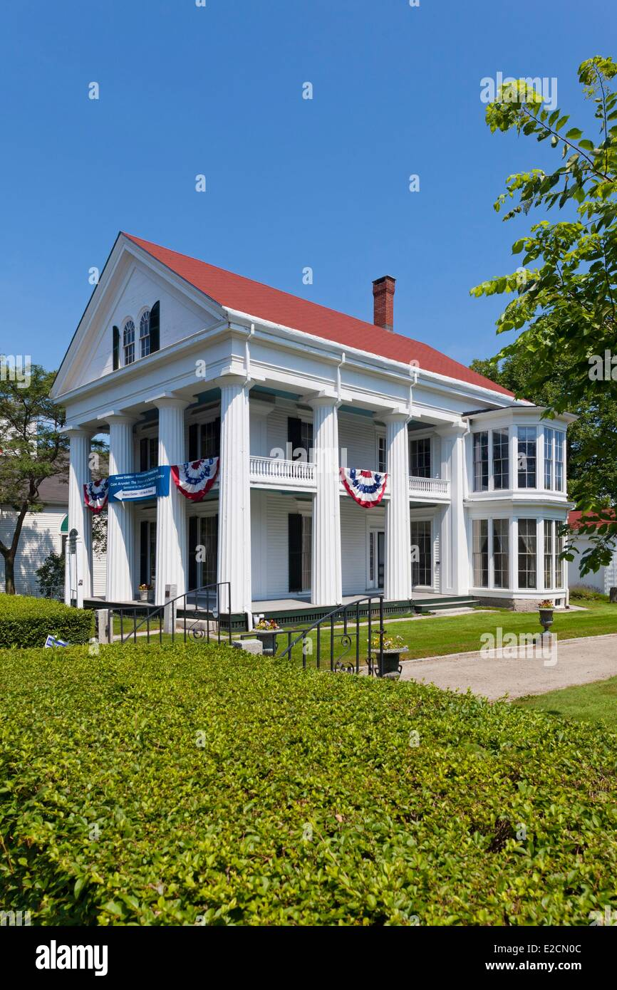 United States Maine Kennebunkport Historical Society Nott House 19th century's historic house Greek revival - Stock Image