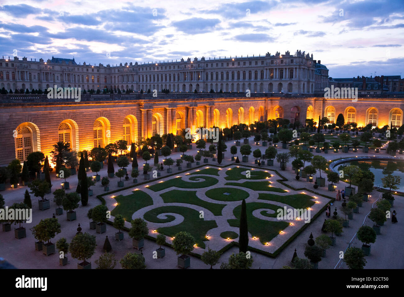 France Yvelines Chateau de Versailles listed as World Heritage by UNESCO Orangery in the morning after the carnival - Stock Image