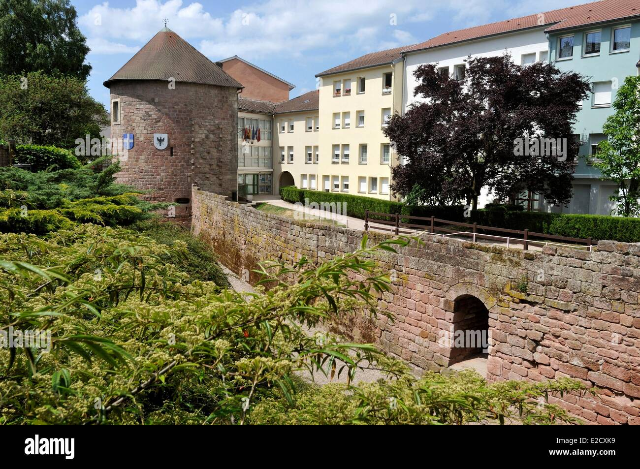 France Vosges Epinal Musee Du Chapitre In An Old Medieval Tower Walls Stock Photo Alamy