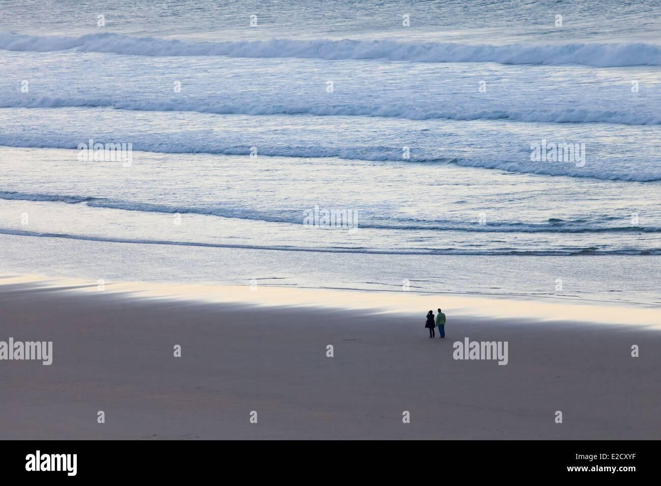 Spain Cantabria beach near San Vicente de la Barquera - Stock Image