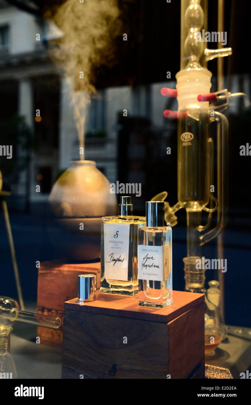 Argentina Buenos Aires Fueguia artisanal perfume shop on Avenida Alvear one of the most exclusive streets of uptown - Stock Image