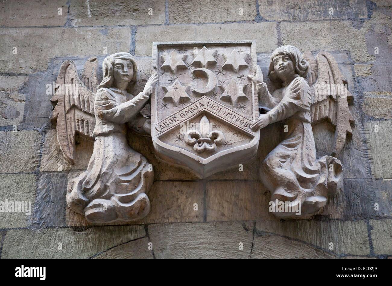 Switzerland Geneva Old Town bas-relief on a wall - Stock Image