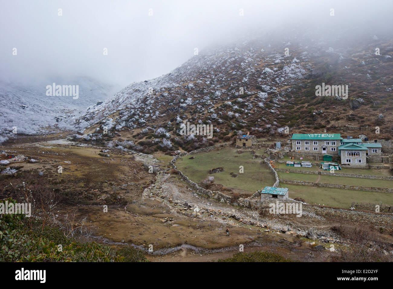 Yeti Inn at Dhole, Nepal, Asia - Stock Image