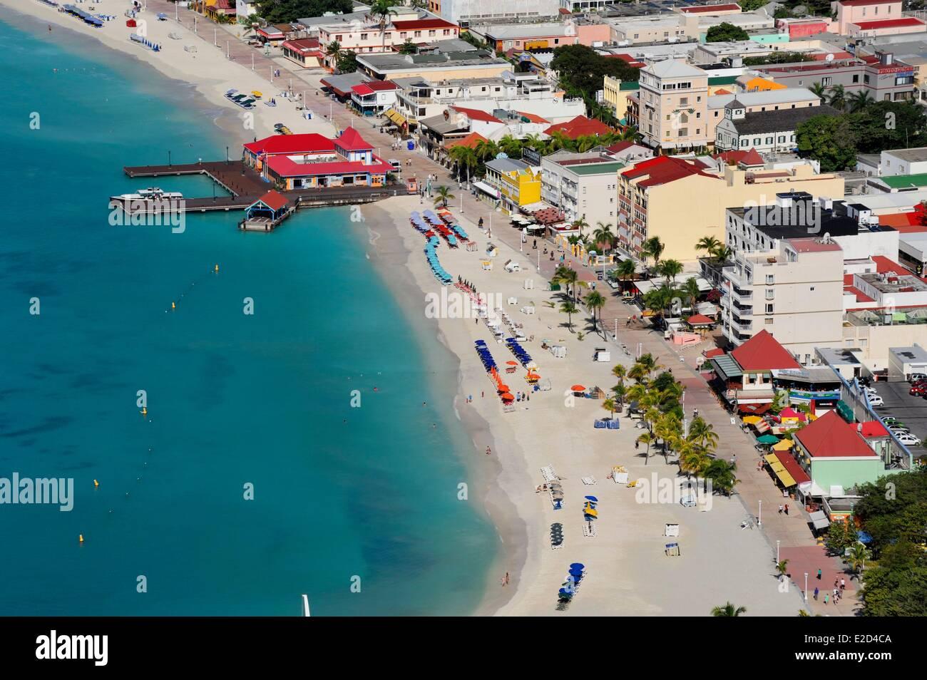 Netherlands Netherlands Antilles Saint Martin (Sint Maarten) Philipsburg capital of the Dutch side of the island - Stock Image