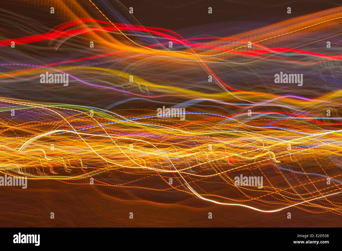 Vietnam Ho Chi Minh city (Saigon) light effects - Stock Image