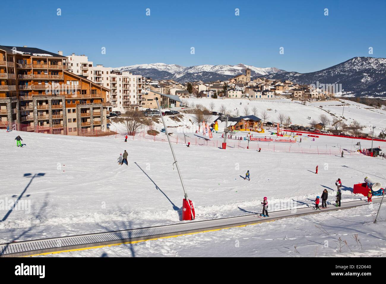 france pyrenees orientales les angles ski resort stock photo