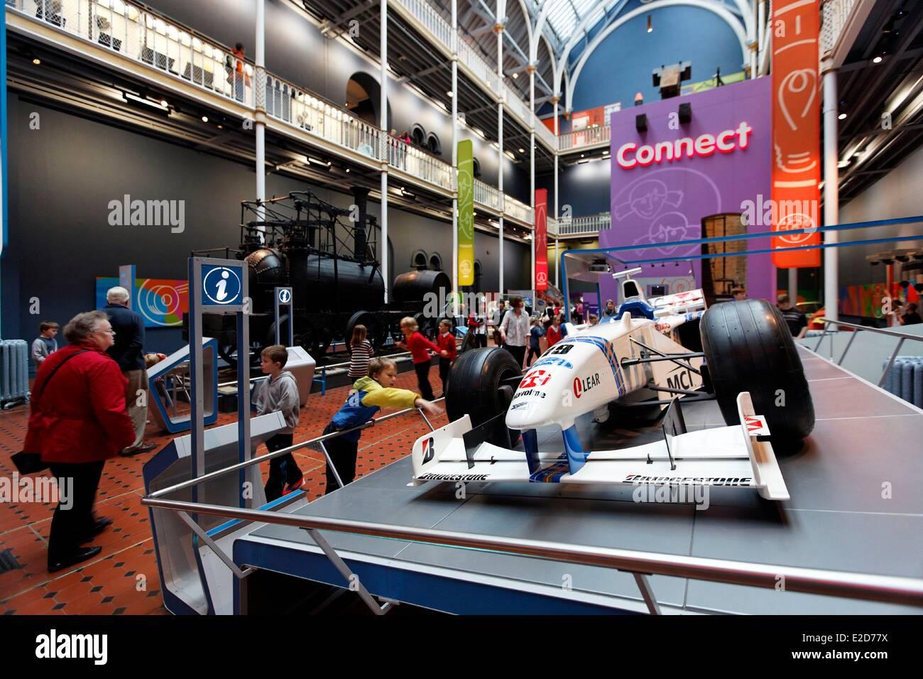 United Kingdom Scotland Edinburgh listed as World Heritage by UNESCO Royal Museum of Scotland Formula 1 Stock Photo