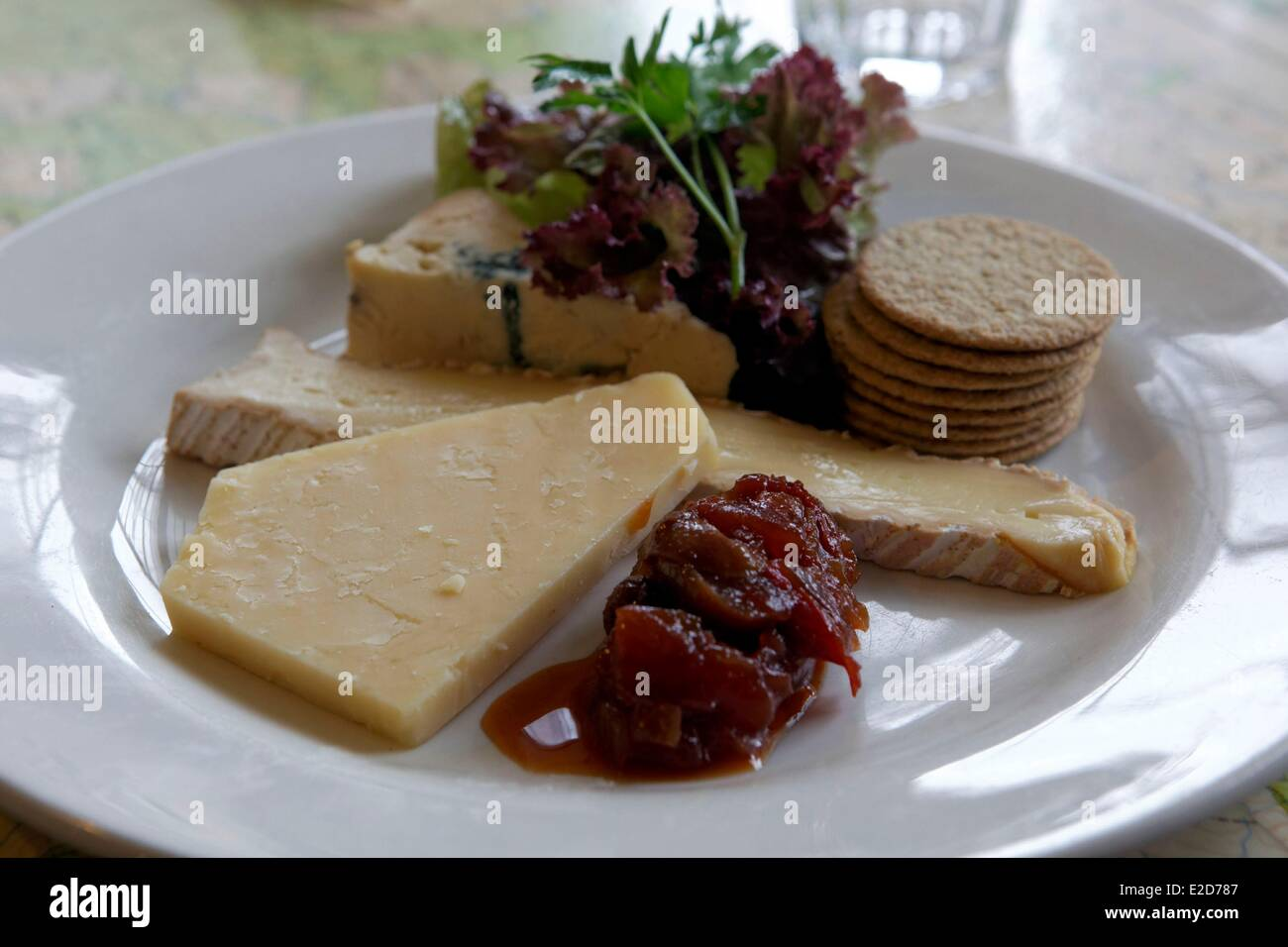 United Kingdom Scotland Edinburgh listed as World Heritage by UNESCO Spoon cafe bistro with vintage decoration cheese - Stock Image