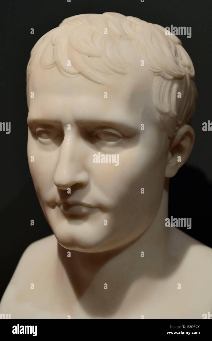 France Corse du Sud Ajaccio Fesch museum (the Museum of Fine Arts) bust of Napoleon 1st by Antoine Denis Chaudet - Stock Image