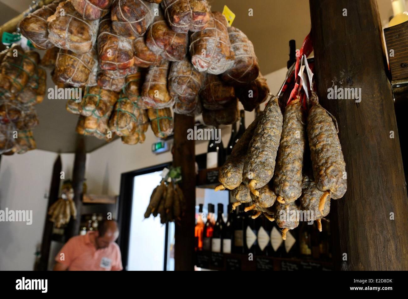 France Corse du Sud Ajaccio corsican delicatessen - Stock Image
