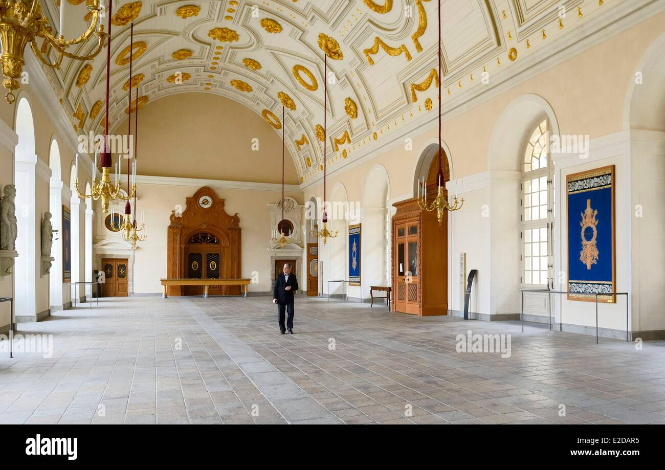France, Ille et Vilaine, Rennes, the Parlement of Brittany (Parlement de Bretagne) now the Rennes Court of Appeal, - Stock Image