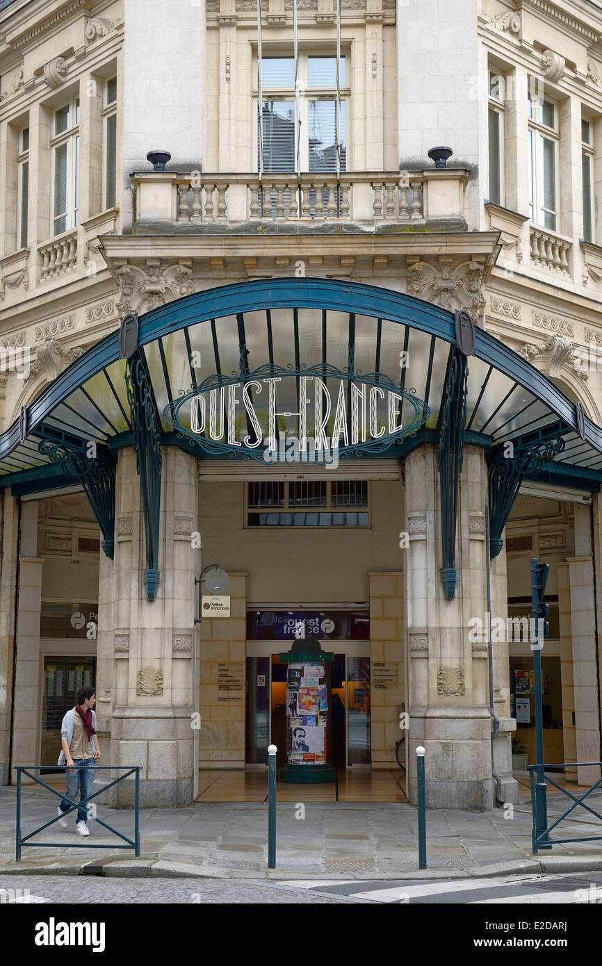 France, Ille et Vilaine, Rennes, former editorial office of the newspaper Ouest France - Stock Image