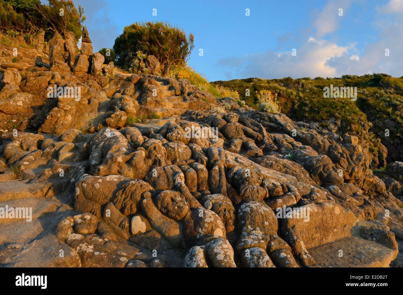 France, Ille et Vilaine, Saint Malo, Rotheneuf, stones sculpted by Foure abbot between 1870 and 1917 - Stock Image