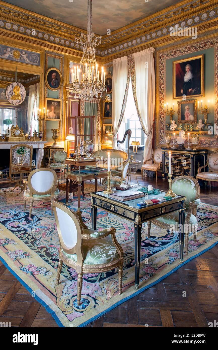 France Eure Le Neubourg Interior Of Chateau Du Champ De