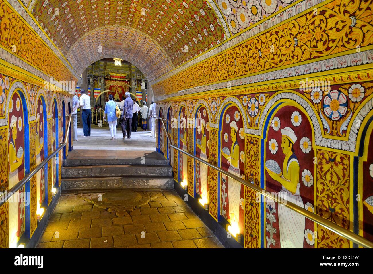 Sri Lanka Central Province Kandy District Kandy Sacred city of Kandy listed as World Heritage by UNESCO Temple of - Stock Image