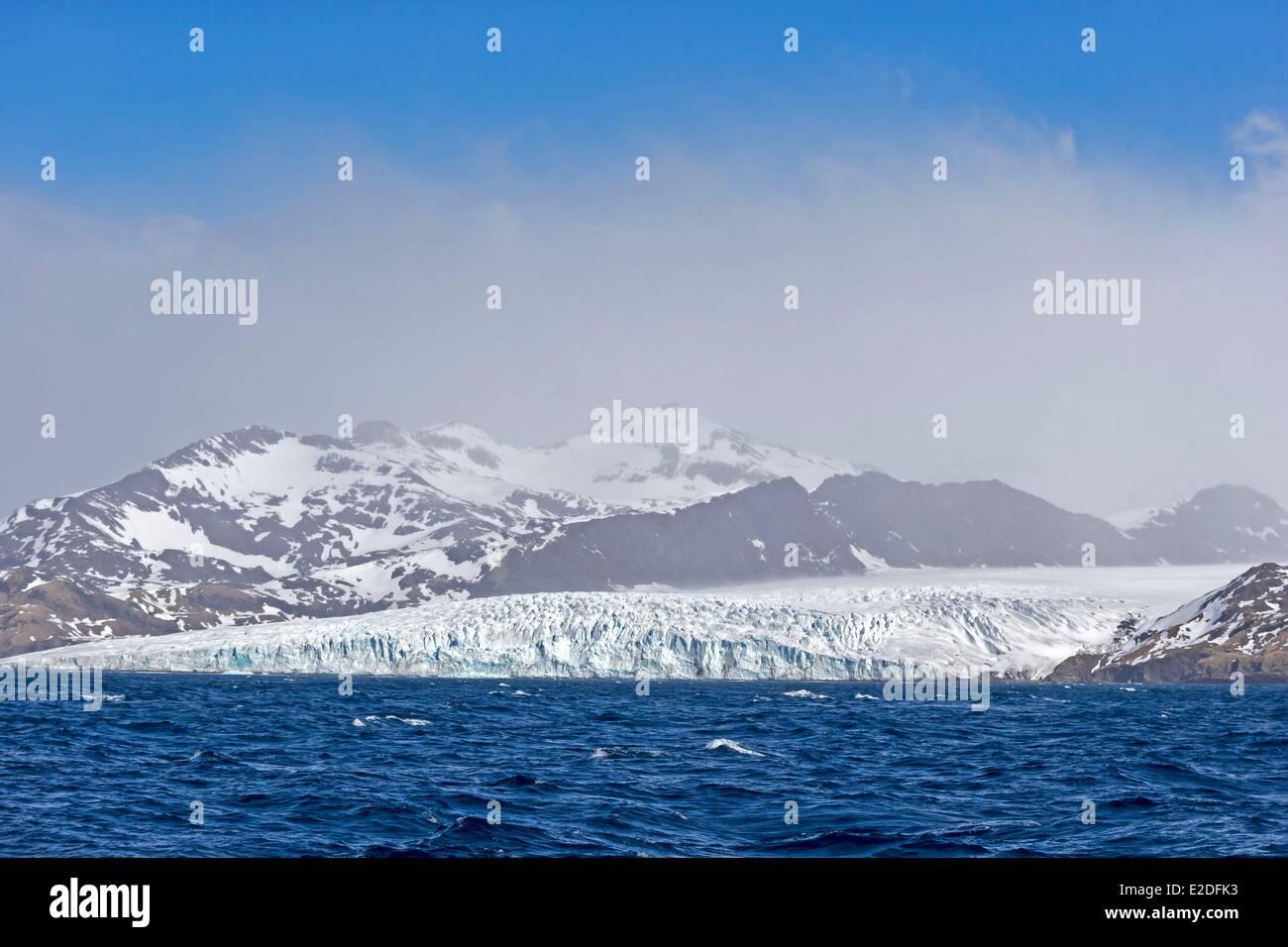 Antarctic, South Georgia Island, Stromness harbour area - Stock Image