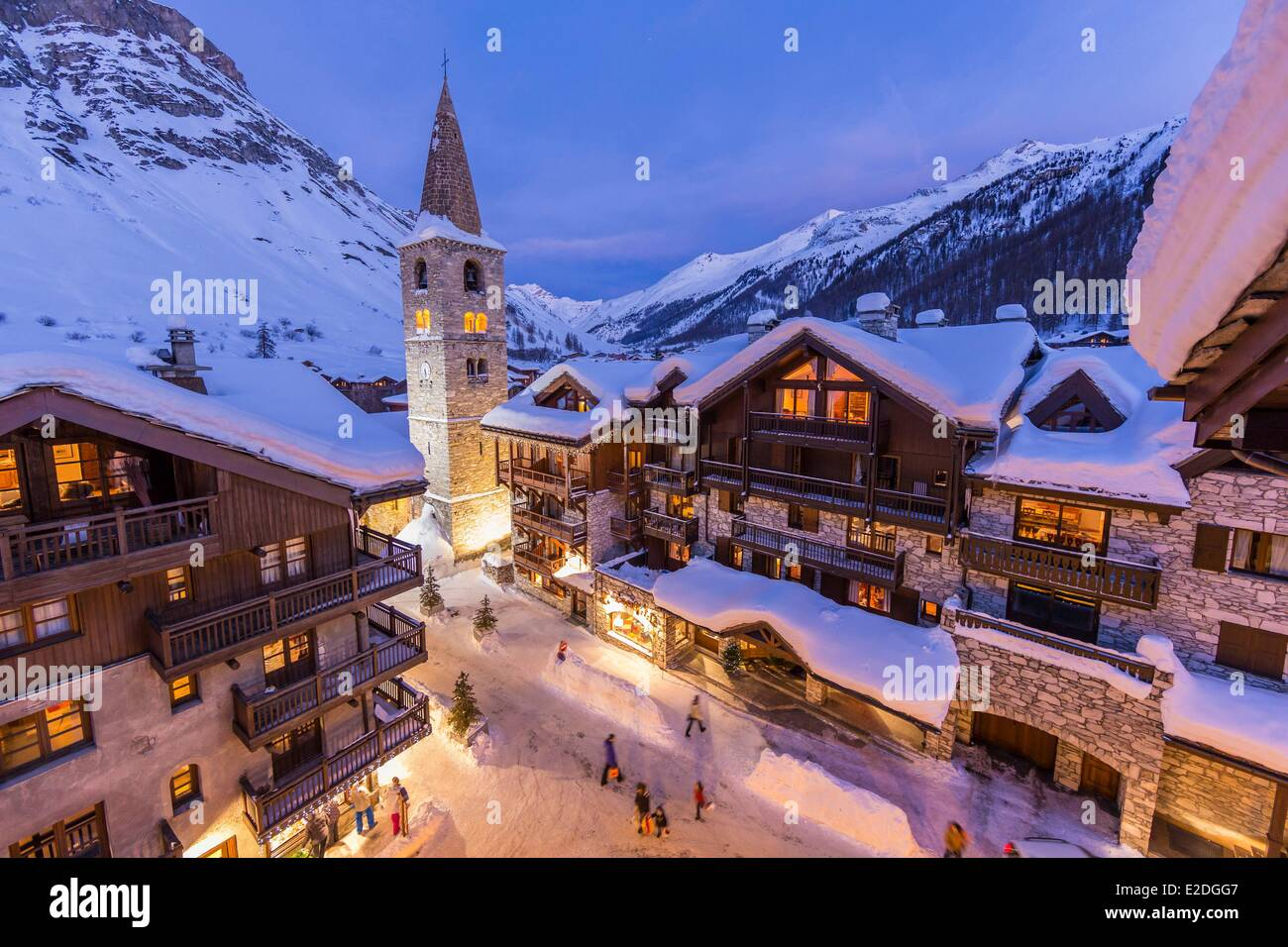 france savoie val d 39 isere view of the village and saint. Black Bedroom Furniture Sets. Home Design Ideas
