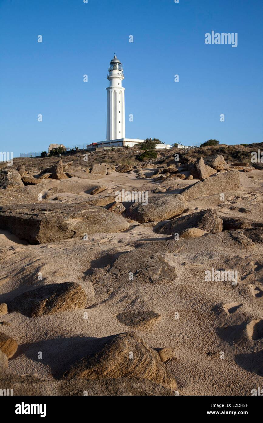 Spain, Andalusia, Cape Trafalgar, off Cape took place the naval battle between the forces of Franco-Spanish and - Stock Image